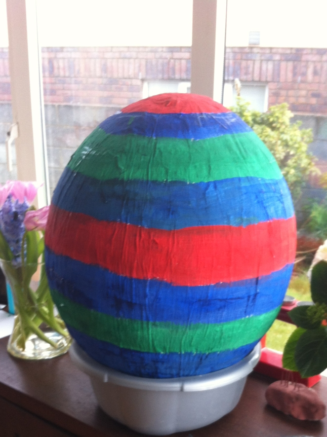 Egg-shaped pinata